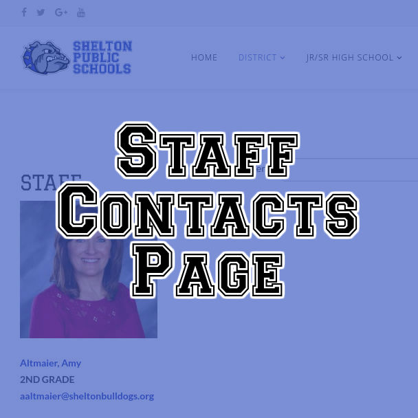 Staff Contact Page
